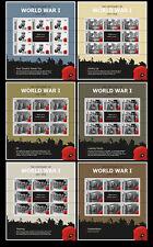Gibraltar 2014 begin van 1e Wereldoorlog  WWI   speciale velletjes postfris/MNH