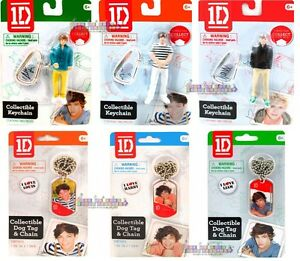 ONE DIRECTION DOG TAG KEYCHAINS ~ Birthday Party Supplies Gifts 1D