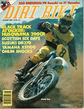 August 1978 Dirt Bike motorcycle magazine Husqvarna CR390 Suzuki Yamaha IT250