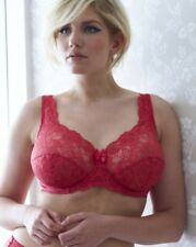 SHAPELY FIGURES CORAL/RED UNDERWIRED NON PADDED 34B SHEER BRA BNWT