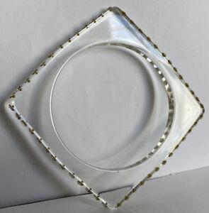 Unusual plastic bangle bracelet - Square Outer Shape With Diamanté's