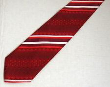 "St. Patrick Mens Necktie Tie Red White Four Leaf Clover Striped Microfiber 59"""