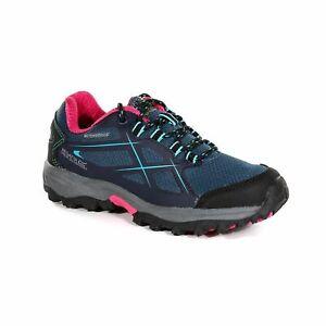 Regatta Kota Low Kids Girls Waterproof Walking Hiking Shoes Blue RRP £50