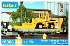 Kibri 16308 H0 - ROBEL Anhänger 55.54 mit Baugerät NEU & OvP