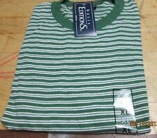 Basic Editions Stripe T-Shirt XL 50/50 Fairway Green Cotton/Poly Vintage