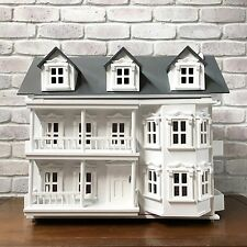 Large Wooden Victorian Dollhouse With Furniture & Dolls. Dollshouse, doll house