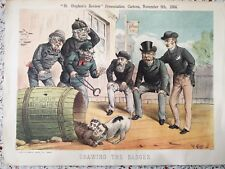 Political Satire: 1884 Tom Merry print -  Drawing the Badger