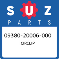 09380-20006-000 Suzuki Circlip 0938020006000, New Genuine OEM Part