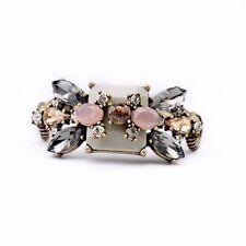 Bracelet Femme Carré Gris Rose Fleur Vintage Original Soirée Mariage Cadeau CT3