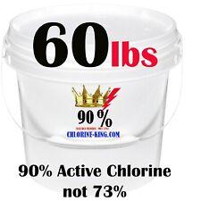 60lb Chlorine King Swimming Pool Chlorine 90% Active Chlorine (Not 73%)Read Desc