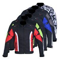 Men's Motorbike Motorcycle Jacket Waterproof Textile Biker CE Armoured Cordura