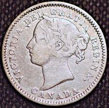 1880 H Canada. 10 Cents . Queen Victoria. Silver Coin.