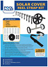 Solar Cover Reel Attachment Kit Straps Clips For Swimming Pool Covers Tool Set