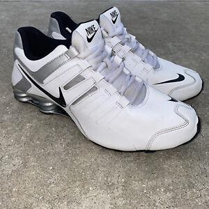 Men's Nike Shox 633631-102 SZ 11 White, Black & Silver