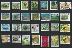 G631 Seychelles / A Small Collection Early & Modern Umm Lhm & Used