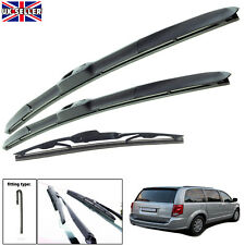 "Dodge Caravan 2008-on hybrid wiper blades set of front & rear 26""20""16"""