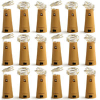 10Pcs Wine Bottle Cork Lights Copper Night Party Led Light Strips Rope Lamp  US
