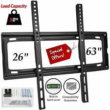 TV Wall Mount Bracket Slim Fixed For 26 30 40 42 50 60 63 Inch 3D LCD LED Plasma