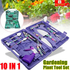 10Pcs Garden Tool Set Gardening Tools Gift Kit Non-Slip Handle with Tote Box UK