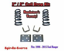 """1998 - 2015 Ford Ranger 4 Cylinder EXT Cab 2WD 3"""" / 5"""" Drop Lowering Kit Coils"""