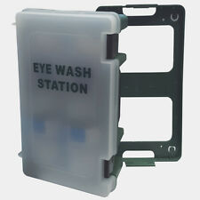 Wall Mount Emergency Eyewash Station Click Off Carry Case First Aid Eye Wash Kit
