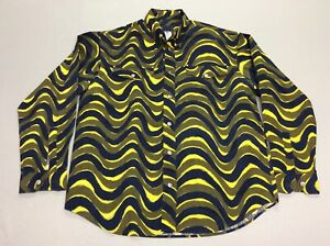 VERSACE JEANS SIGNATURE ITTIERRE WILD WAVY PRINT MENS SHIRT XL MADE IN ITALY