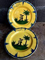 "2 Salad Plates 8.25"" Haldon Group Soleil MCMLXXX Retired Vintage 1980"