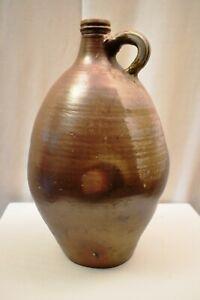 """Antique Bellarmine Stoneware Large Jug Witch Bottles Brown-Glazed Circa 1750 """""""