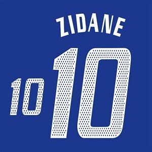 Zidane 10. France Home football shirt 2004 - 2006 FLEX NAMESET NAME SET