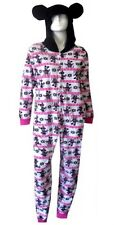 Disney Mickey Mouse Minnie Mouse Hooded Non Footed Pajamas NWT M or L LAST ONES