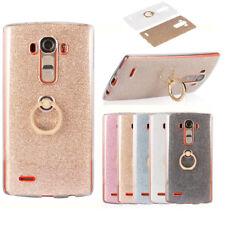 Soft TPU Phone Case Cover with Finger Ring Grip Holder For LG G3 G4 G5 G6 K7 K10