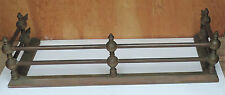 ANTIQUE VICTORIAN FIREPLACE BRASS GATE=RAIL FIRE SURROUND HEARTH FENDER 36""