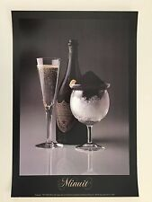 "CHAMPAGNE & CAVIAR,'DOM PERIGNON"" BY SID HOELTZELL,RARE AUTHENTIC 1985  POSTER"