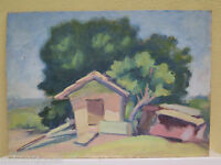 Modern Painting Oil on board Landscape Countryside the Country Painting Antique