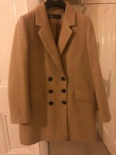 ZARA CAMEL DOUBLE-BREASTED BUTTONED COAT SIZE MEDIUM (BNWT)