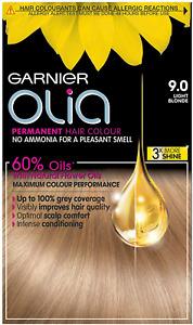 Garnier Olia Permanent Hair Dye, 9.0 Light Blonde
