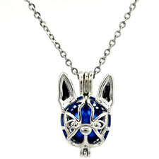 K690 Chihuahua Dog Beads Pearl Cage Pendant Locket Necklace 18""