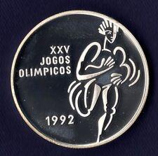 Portugal 200 esc. 1992 Jogos Olimpicos –proof+guarantee+prot.case+pres.box