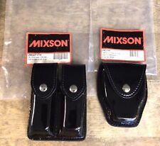 Set Of Mixson High Gloss Black Dbl Mag Case Amp Handcuff Case W Flap New Unused