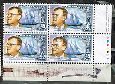 Canada Famous Naval Architect Ships  stamps block 1987