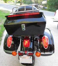 Motorcycle Tour Pack Trunk Tail Luggage Box W/ Tail Light & Top rack & Backrest
