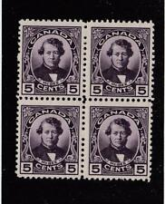 CANADA (MK3623) # 146  VF-2MNH/2H  5cts 1927 T. D'ARCY MCGEE /BLOCK OF 4 CAT $36