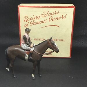 Britains Racing Colours Mr WINSTON S. CHURCHILL boxed (lime Green 429)