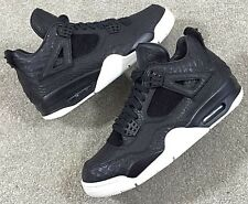 2016 Nike Air jordan 4 Retro Premium SZ 8.5 Black Pinnacle Croc IV 819139-010