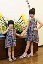 NEW Kid Girl Spring Summer Bohemia Hi-low Hem Dress Multicolor Wear SZ 100CM Z8C
