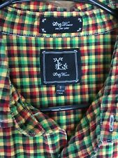 L.R.G  Mens Multicolor Plaid Checkered Long Sleeve Button Up Shirt Size S
