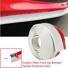 White Carbon Fiber Car Front Lip Bumper Anti Scratch Decor Rubber Protect Strips