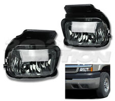OE STYLE FOG LIGHTS PAIR SMOKE LAMPS + BULB FOR 03-06 CHEVY SILVERADO AVALANCHE