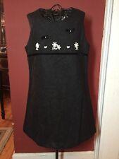 Carlotta - Made In Italy Girls Sz. 4T Charcoal Grey Wool Stretch Blend Dress