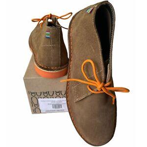 Veldskoen Mens 11 Bloem Orange Heritage Chukka Shoe Sustainably Handmade Leather